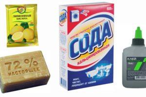 Сода и силикатный клей