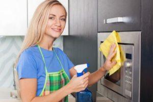 Подготовка микроволновки к чистке