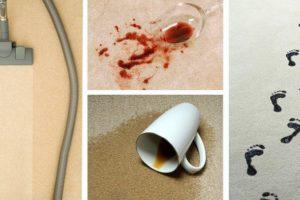 Сильные загрязнения на ковре