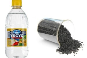 Уксус и уголь