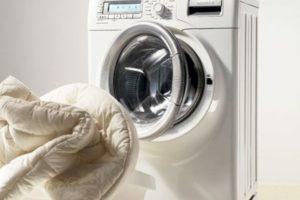 Стирка одеяла в стиральной