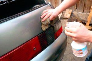 Удаление скотча на машине