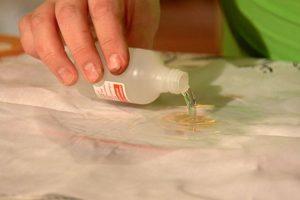 Очищение краски с одежды