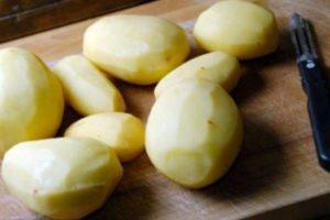 Картофель очищенный ножом