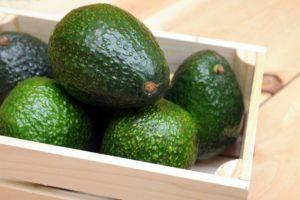 Авокадо в ящике