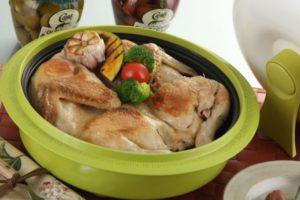 Курица на блюде