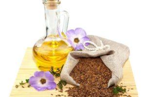 Льняное масло и зерна