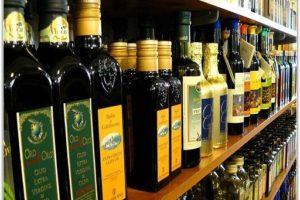 Оливковое масло в магазине