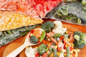 Замороженные овощи для ребенка