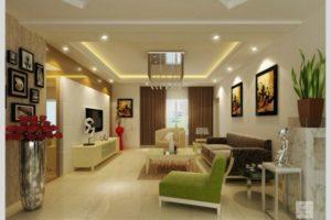 Светодиодные лампы в гостинной
