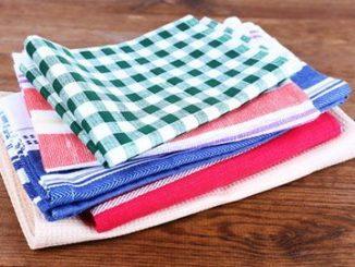 Стопка цветных полотенец