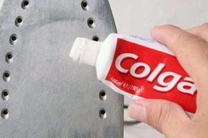 Чистка утюга зубной пастой