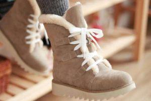 Зимние кеды на ногах