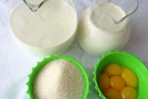 Ингредиенты для приготовления мороженого