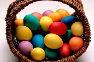Крашеные яйца красителями