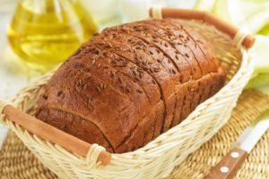 Нарезной хлеб в корзине