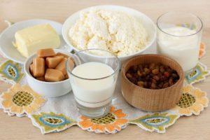 Ингредиенты для карамельной пасхи