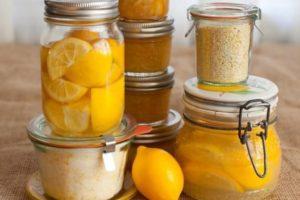 Баночки с лимоновым вареньем