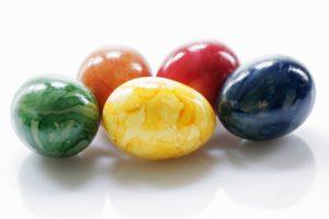 Яйца с мраморными разводами