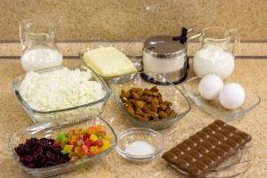 Ингредиенты для шоколадной пасхи