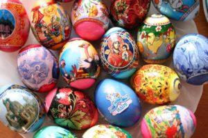 Пасхальные яйца в термоэтикетках