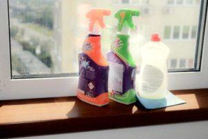 Средства для мытья подоконника