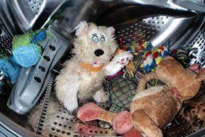 Игрушки в барабане стиральной машины