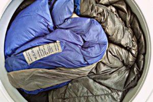 Спальный мешок в стиральной машине