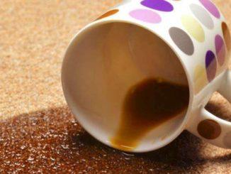 Опрокинутая чашка кофе