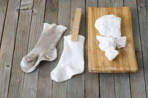 Носочки белые чистый и грязный