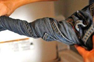 Выжимание джинс