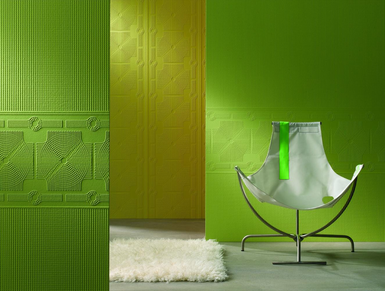стеклотканевые обои зеленые