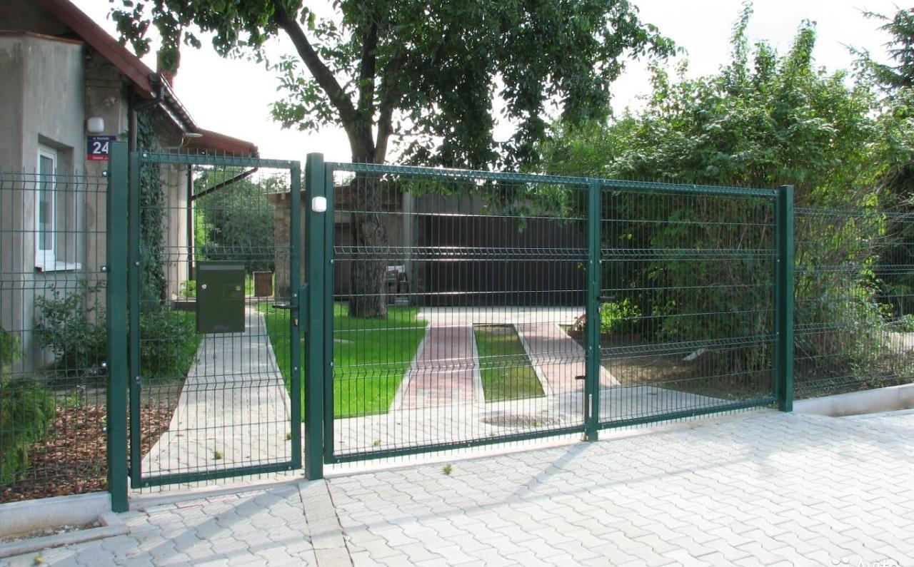 забор и калитка из сетки