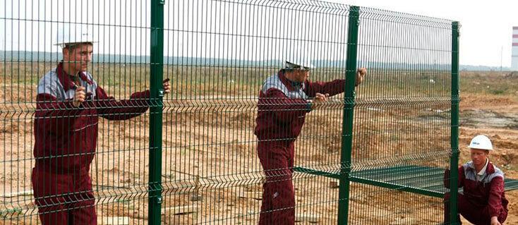 забор из сетки своими руками